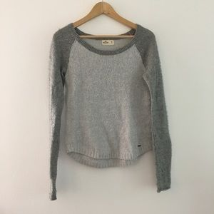 Hollister wool metallic crewneck long slv Sweater